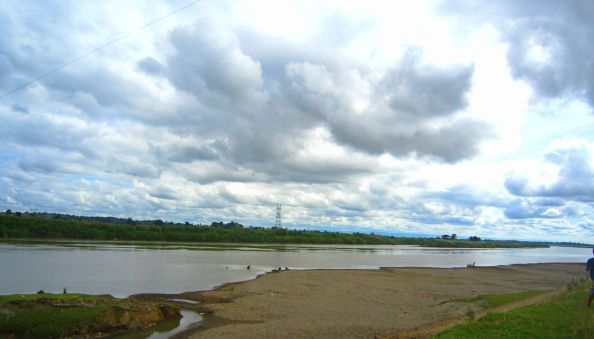 infinite sky and river