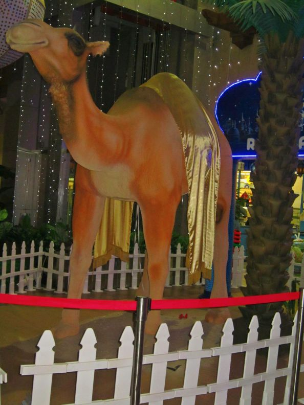 life size statue of a camel