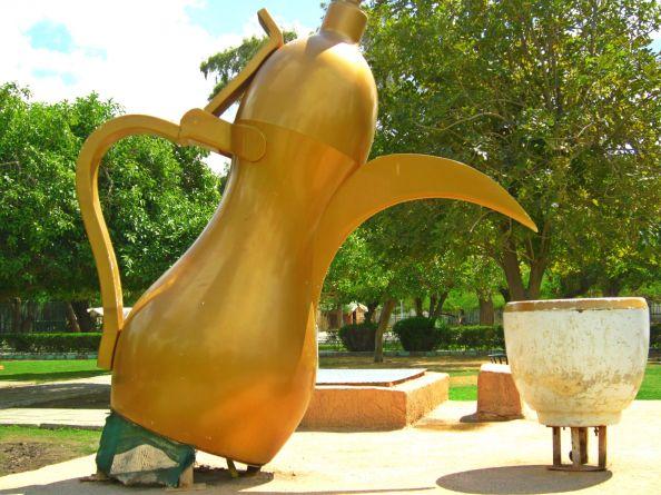 shiny giant teapot